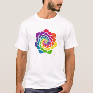 Sacred Geometry - Rainbow Pine Cone T-shirt