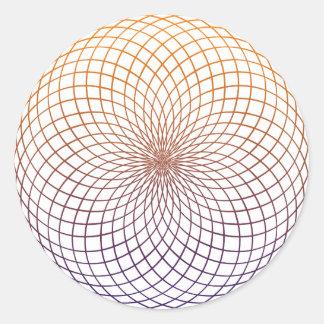 Sacred Geometry Round Sticker