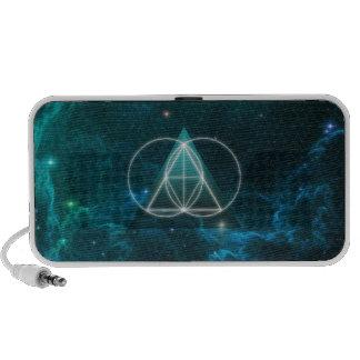 Sacred geometry travelling speakers
