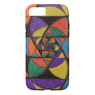Sacred Geometry Spirals iPhone 7 Case