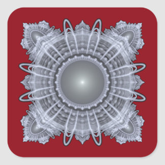 Sacred Geometry Square Sticker