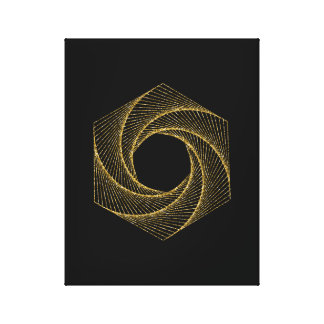 Sacred Geometry Symbol Canvas Print