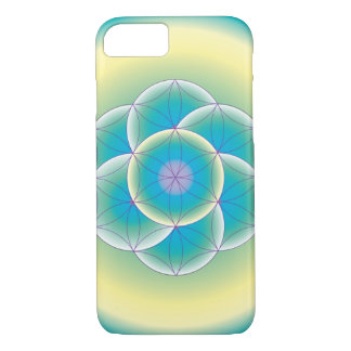 Sacred Geometry Teal Yellow Phone Case