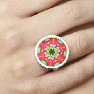 """Sacred Geometry """"Tribal Face"""" Ring by MAR"""