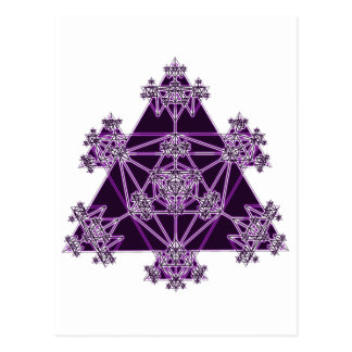 Sacred Geometry: Violet Triangles: Postcard