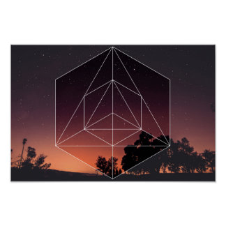Sacred Geometry vs. The Nights Sky Poster