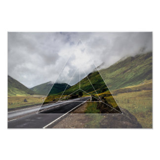 Sacred Geometry vs. The Road Poster