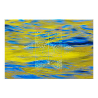 Sacred Geometry Water Element Poster