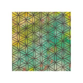 Sacred Geometry Wood Canvas