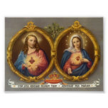 Sacred Harts of Jesus and Mary Print