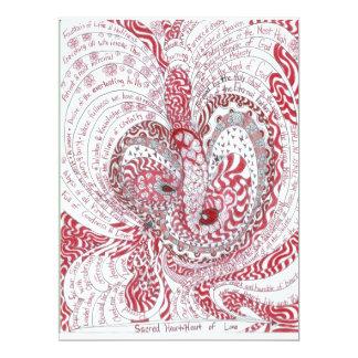 Sacred Heart 17 Cm X 22 Cm Invitation Card