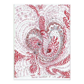 Sacred Heart 17 Cm X 22 Cm Invitation Card
