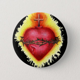 Sacred Heart 2 6 Cm Round Badge