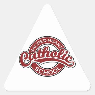 Sacred Heart Catholic School Red Triangle Sticker