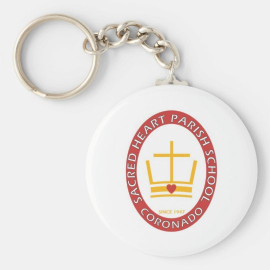Sacred Heart Coronado Logo Basic Round Button Key Ring