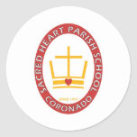 Sacred Heart Coronado Logo Classic Round Sticker