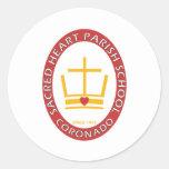 Sacred Heart Coronado Logo Round Sticker