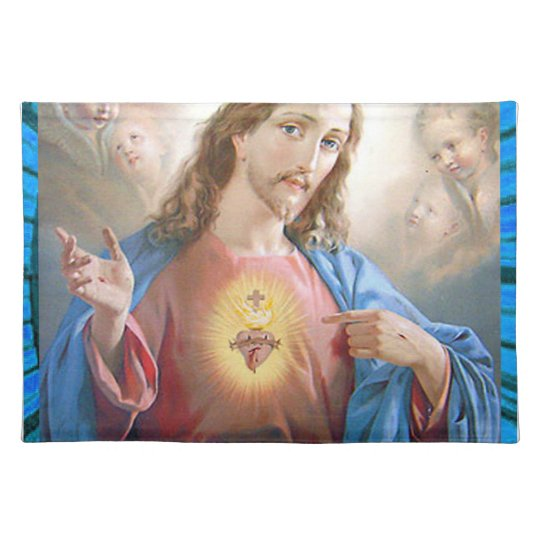 SACRED HEART OF JESUS 05 CUSTOMIZABLE PRODUCTS PLACE MATS