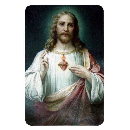 Sacred Heart of Jesus Car/Refrigerator Rectangular Photo Magnet
