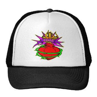 Sacred Heart of Jesus Christ Faith Tattoo Mesh Hats