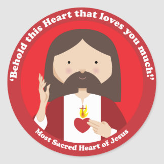 Sacred Heart of Jesus Classic Round Sticker
