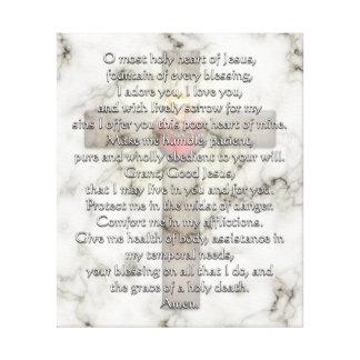 Sacred Heart of Jesus Cross Canvas Print