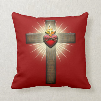 Sacred Heart of Jesus Cross Cushion