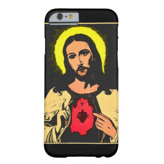 Sacred Heart of Jesus Denim Art Print Barely There iPhone 6 Case
