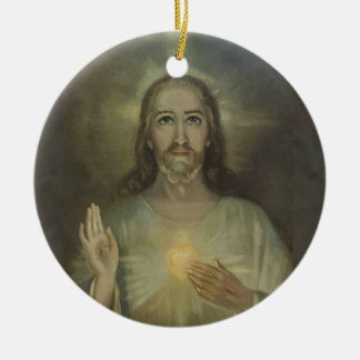Sacred Heart of Jesus Enthronement Christmas Ornament