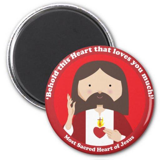 Sacred Heart of Jesus Fridge Magnets