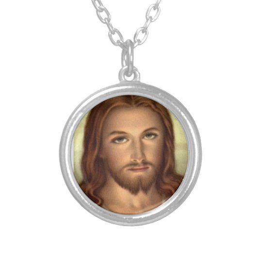Sacred Heart of Jesus Silver Plated Necklace