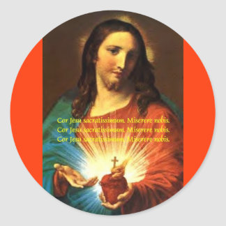 SACRED HEART OF JESUS STICKER CORJESU