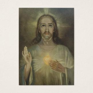 Sacred Heart of Jesus w/prayer Business Card
