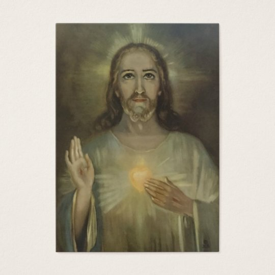 Sacred Heart of Jesus w/prayer Business Card