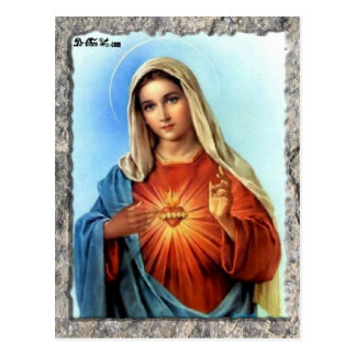 SACRED HEART OF MARY 01 CUSTOMIZABLE PRODUCTS POSTCARD
