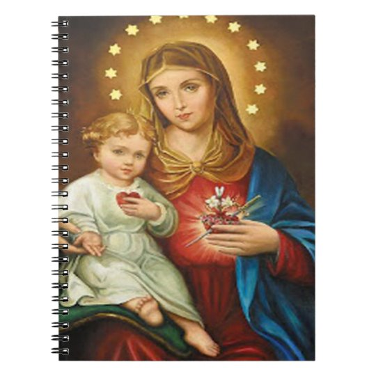 SACRED HEART OF MARY 12 CUSTOMIZABLE PRODUCTS NOTEBOOKS