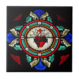 Sacred Heart (Stained Glass) Tile