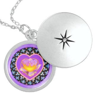 Sacred Heart Sterling Silver Locket