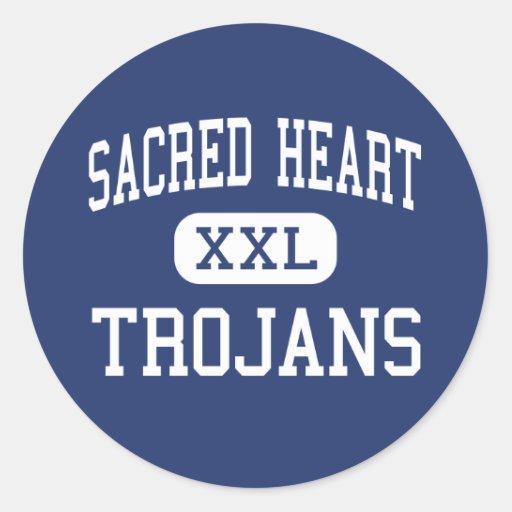 Sacred Heart - Trojans - High - Ville Platte Round Sticker