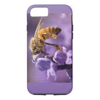 Sacred Honey Bee Pollinating Lavender Herb iPhone 7 Case
