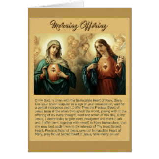 Sacred Jesus Immaculate Heart Mary Angels Cherubs Card