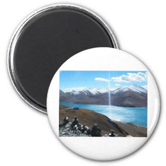 sacred Lake 6 Cm Round Magnet