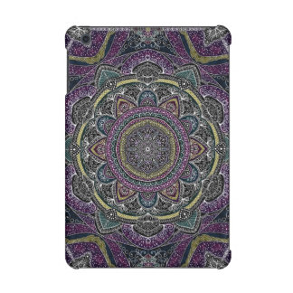 Sacred mandala stars and lace purple and black