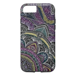 Sacred mandala stars and lace purple and black iPhone 8/7 case