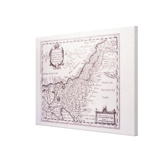 Sacred Map of Palestine, The Promised Land Canvas Print