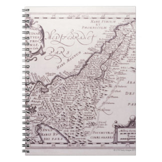 Sacred Map of Palestine, The Promised Land Spiral Notebooks