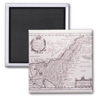 Sacred Map of Palestine, The Promised Land Square Magnet