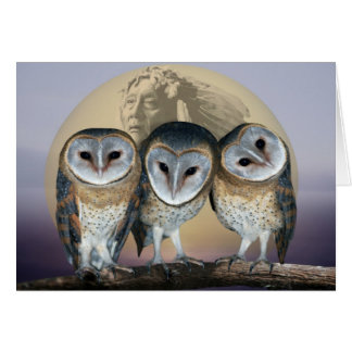 Sacred Owl North American Indian Card