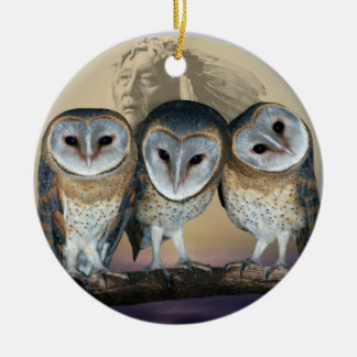 Sacred Owl North American Indian Christmas Ornament