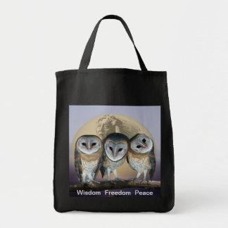 Sacred Owl North American Indian Tote Bag